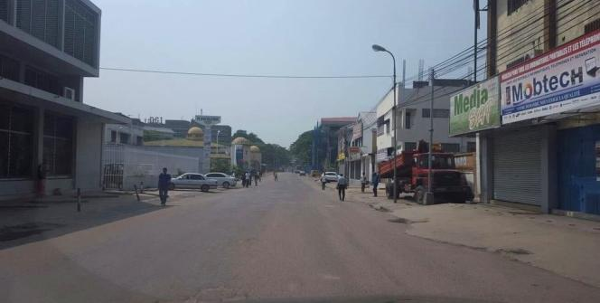 Une rue déserte à Kinshasa, le 16 février.