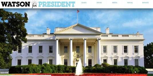 Capture d'écran du site de la campagne Watson 2016.