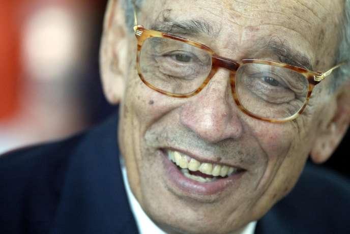 L'ancien secrétaire général des Nations Unies Boutros Boutros-Ghali, enjuin2003.