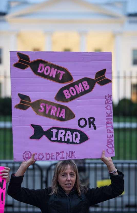 «Honnêtement, sur [l'Irak], Trump est allé encore plus loin que Bernie Sanders », affirme Medea Benjamin, l'une des fondatrices de Code Pink.