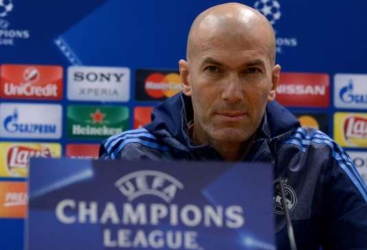 Zinédine Zidane, le 16 février à Rome.