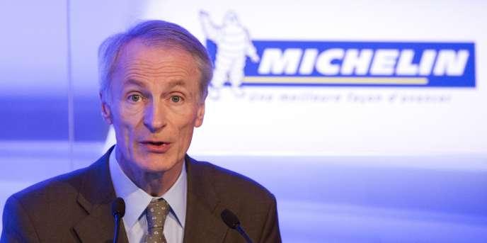 Jean-Dominique Senard, président de Michelin lors de la présentation du groupe, le 16 février, à Paris