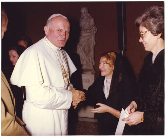 Jean-Paul II et Anne-Teresa Tymieniecka (photo non datée).