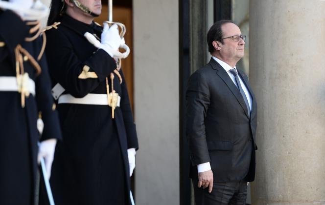 François Hollande, à l'Elysée, le 16 février.