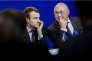 Emmanuel Macron et Michel Sapin, à Paris, le 9 février.