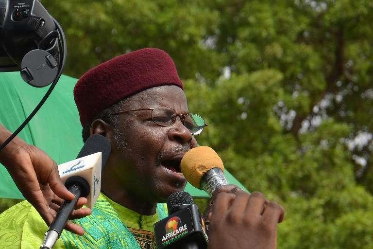 Le candidat du Mouvement des Nigériens pour le renouveau démocratique (MNRD Hankouri), Mahamane Ousmane, à Niamey, le 15 juin 2014.