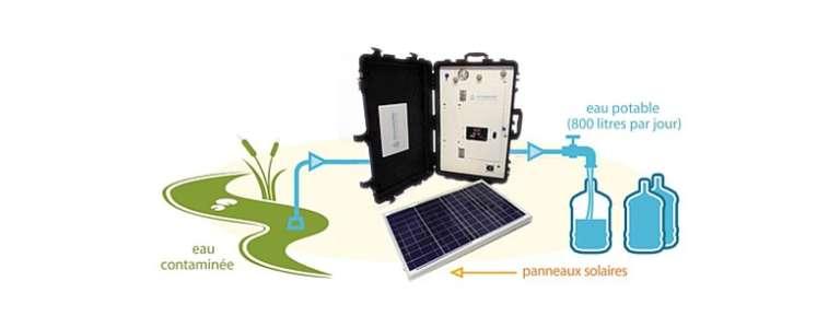 Le système de fonctionnement de la valise solaire Aqualink UF développée par Sunwaterlife.