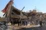 Lundi 15février, aux abords de l'hôpital soutenu par MSF à Maaret Al-Nouman, dans le nord de la Syrie.