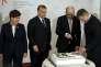De gauche à droite, la première ministre polonaise, Beata Szydlo, le premier ministre hongrois, Viktor Orban, le chef du gouvernement tchèque, Bohuslav Sobotka et le président du gouvernement slovaque, Robert Fico, à Prague, lundi 15 février 2016, à l'occasion des 25 ans du groupe de Visegrad.