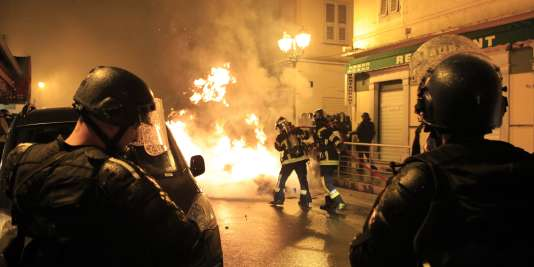 Des incidents dans la ville de Corte, le 16 février.