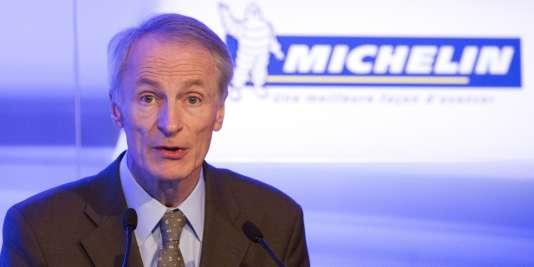 Le président de Michelin, Jean-Dominique Senard, le 16 février 2016.