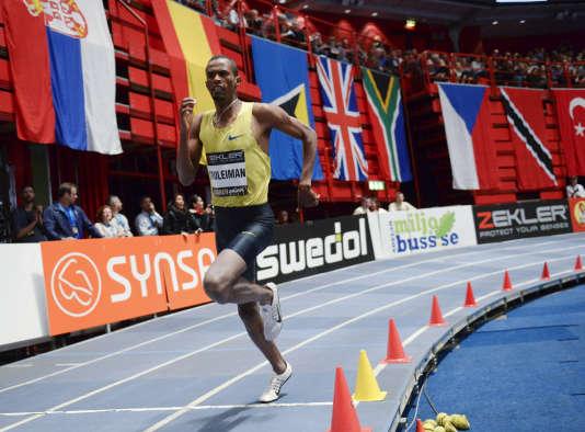Ayanleh Souleiman a couru le 1 000 m en 2 min 14 sec 20', mercredi 17 février à Stockholm, en Suède.