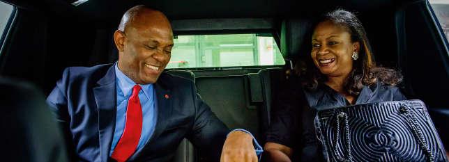 Tony Elumelu et son épouse, Awele.