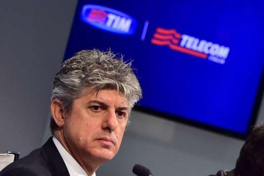 Marco Patuano, le patron de l'opérateur transalpin de téléphonie Telecom Italia.