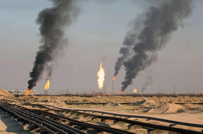 Champs pétrolifères irakiens, en février.