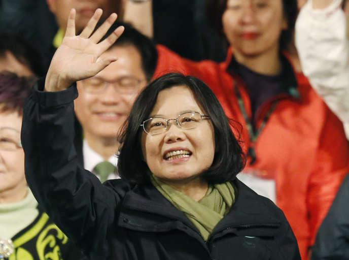 Tsai Ing-wen, prochaine présidente de Taïwan, le 16 janvier à Taipei.