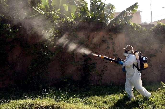 Opération de fumigation contre le virus Zika à Gama, près de Brasilia, le 17 février 2016.