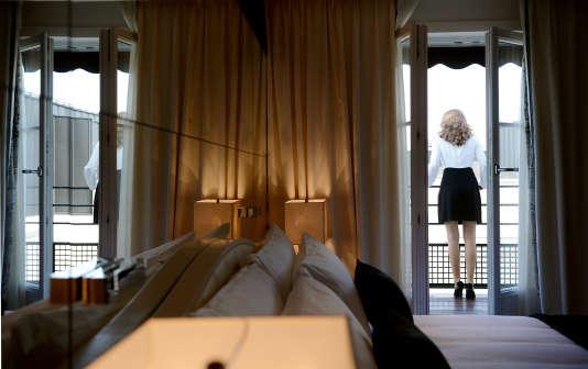 Une chambre de l'hôtel parisien « Prince de Galles », en mai 2013.