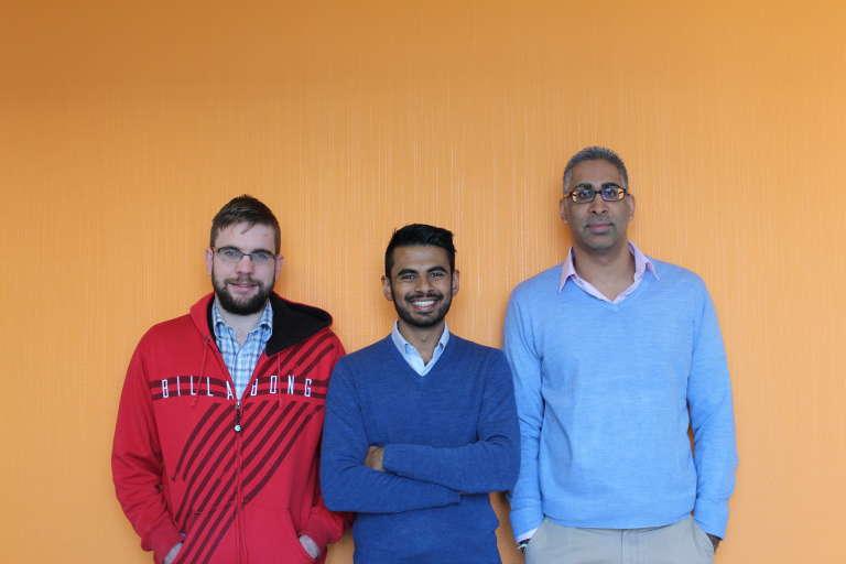 L'équipe de Giraffe (au centre le fondateur Anish Shivdasani) dans les locaux de la start-up à Johannesburg.