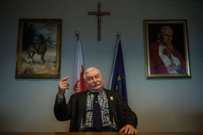 Lech Wałesa dans son bureau à Gdansk, le 5 février.