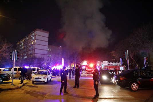 Peu après l'attentat perpétré à Ankara, le 17 février au soir.