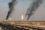 Puits de pétrole près de Bassora dans le sud irakien, le 5 février.