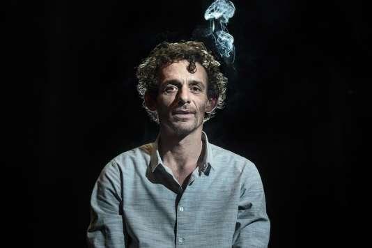 Sébastien Barrier le 4 février 2016 au théâtre Le Grand T à Nantes.
