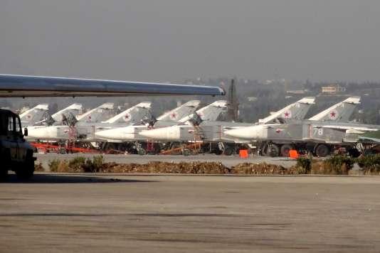 La base russe de Lattaquié, en Syrie, le 16 février 2016.