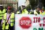 Lors d'une manifestation anti-austérité à Athènes en Grèce le 17 février.