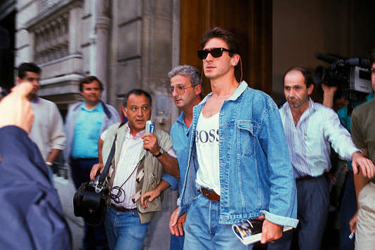 Eric Cantona, le 23 aout 1988 à Paris.