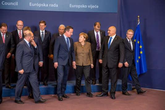 Photo de famille avant le conseil européen de Bruxelles le 18 février.
