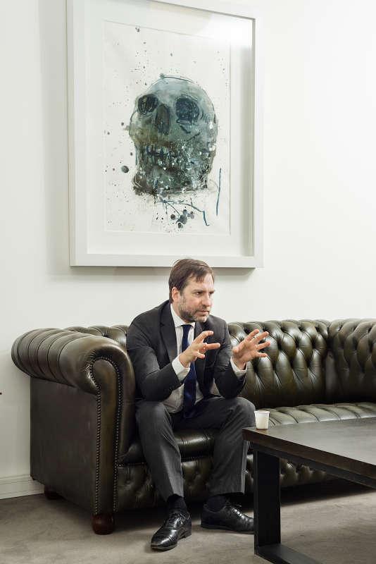 Dans le bureau de l'avocat Patrice Spinosi, à Paris.