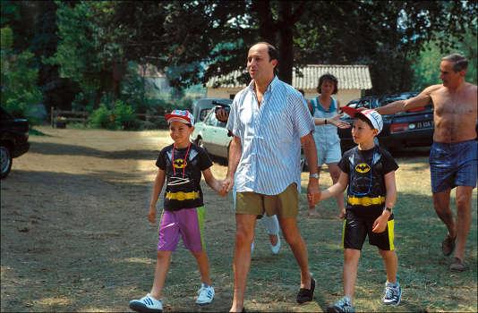 Laurent Fabius avec ses enfants à Rocamadour.