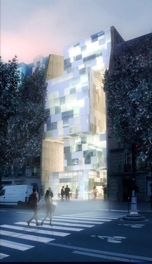 Maquette de l'extérieur du futur Centre culturel marocain à Paris.