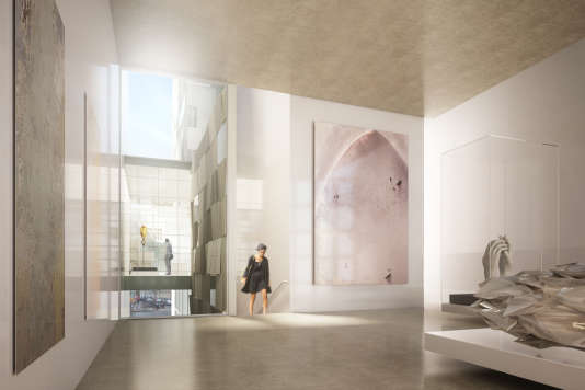 Maquette de l'intérieur du futur Centre culturel marocain à Paris.