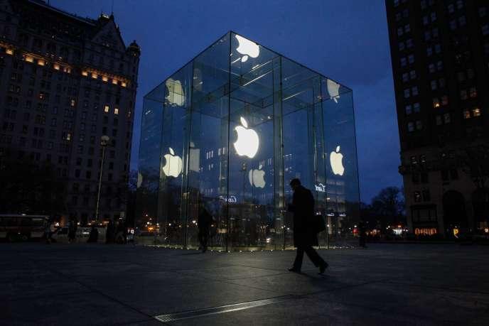 La boutique Apple Store de la 5eAvenue, à New York, en février 2016.