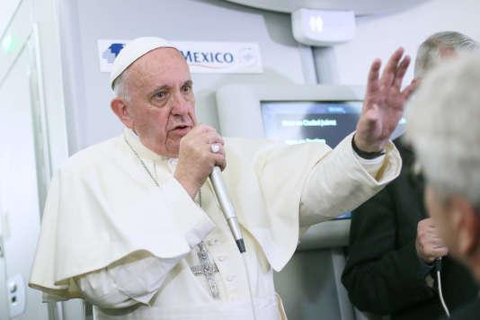 Le pape François a son retour du Mexique, le 17 février.