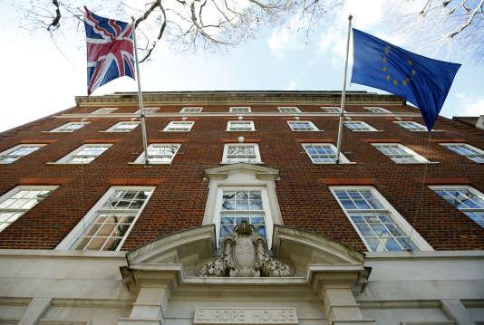 Le bureau européen à Londres, le 18 février.