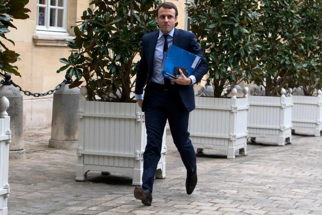 Emmanuel Macron, le 18 février
