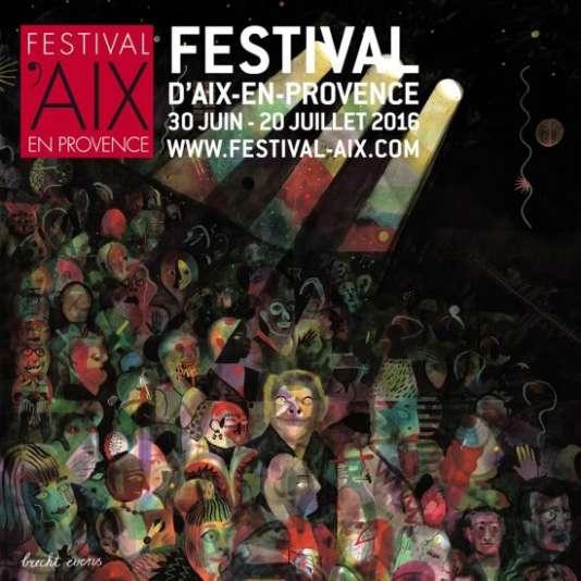 L'affiche de la 68e édition du Festival d'Aix-en-Provence, dessinée par Brecht Evens.