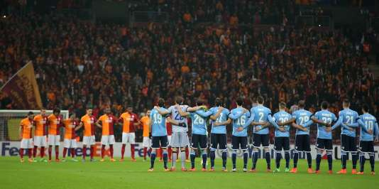 Galatasaray opposé à la Lazio, à Istanbul, le 18 février.