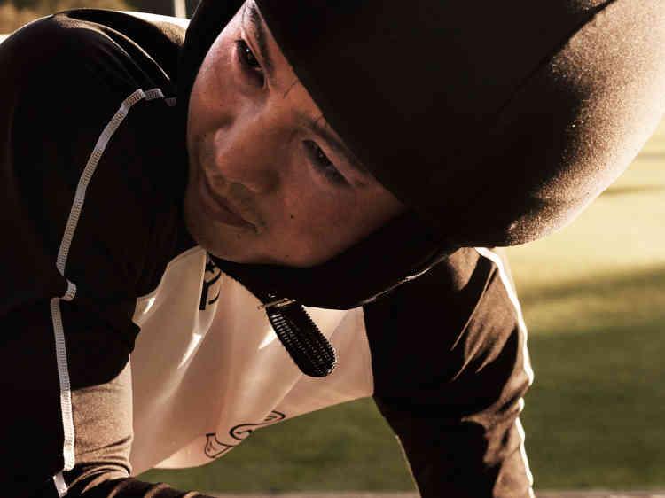 Lors des phases d'entraînement, la couleur du casque a son importance : elle signale à l'entraîneur le niveau de l'élève.