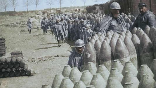 Obus français transportés jusqu'à Verdun.