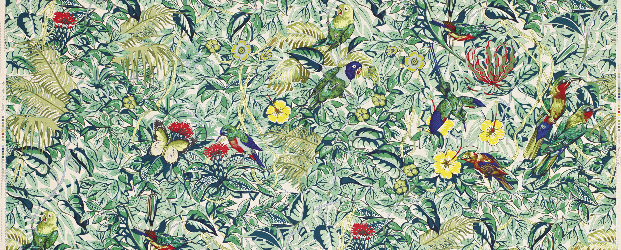 Jungle Life Multicolore, dessin de Robert Dallet, pour la Maison Hermès.