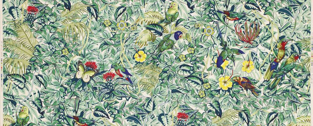 Jungle Life Multicolore, dessin de Robert Dallet, pour la Maison Hermès.