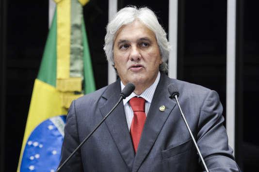 Delcidio do Amaral, parlementaire, ancien chef du groupe du Parti des travailleurs au Sénat.