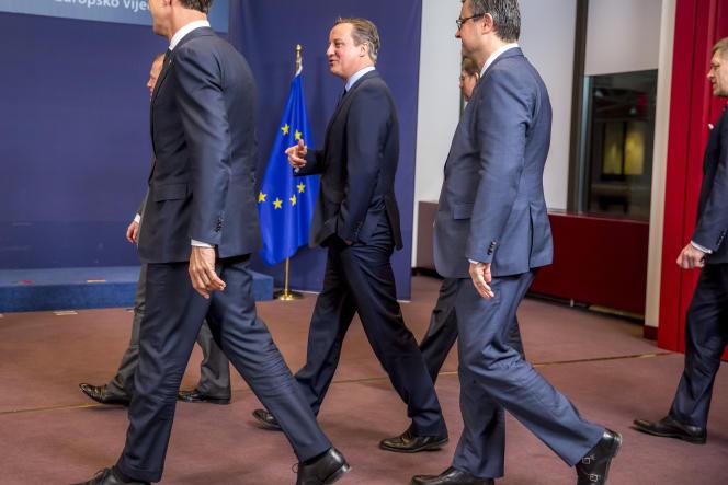 David Cameron au Conseil européen de Bruxelles, Belgique, le 18 février 2016.