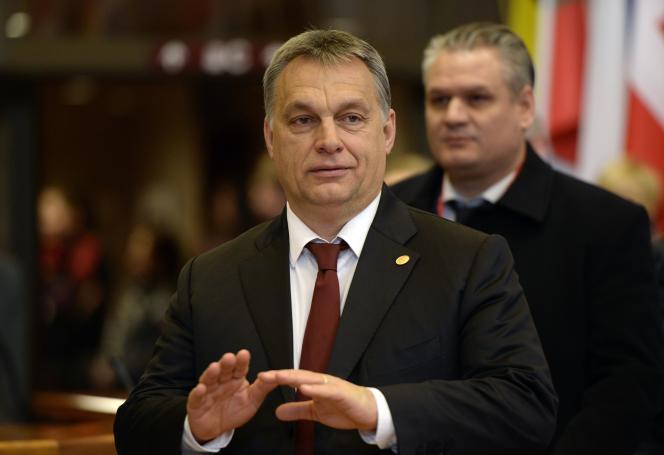Le premier ministre hongrois, Viktor Orban, le 19 février à Bruxelles.