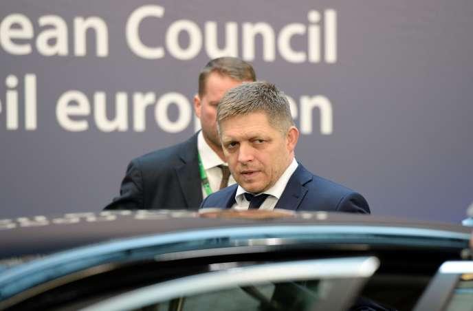 Robert Fico, le premier ministre slovaque, à Bruxelles, le 19 février.