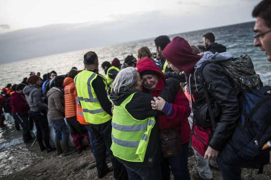 Arrivée de migrants à Lesbos vendredi 19 février.